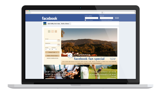 Facebook Synxis Booking Engine Widgets